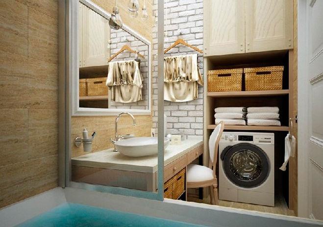интерьер, стиральная машинка
