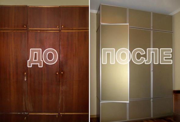 Встроенный шкаф из старой мебели своими руками