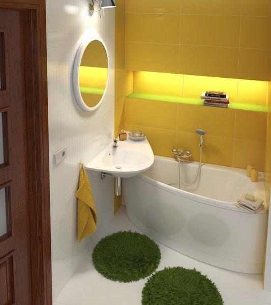 Дизайн и ремонт в маленькой ванной комнате