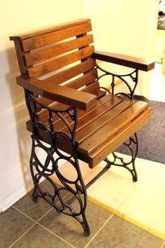 стул из швейной машинки зингер