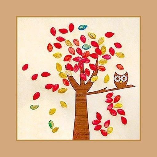 Картины из арбузных семечек своими руками