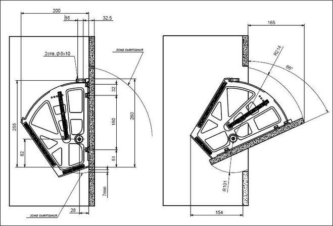 Шкаф для обуви чертеж