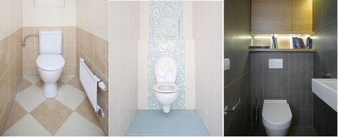 маленький туалет как зрительно расширить