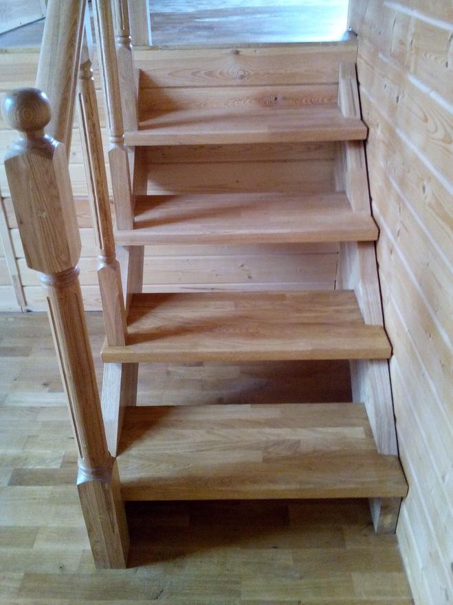 """деревянная лестница """"анфас"""""""