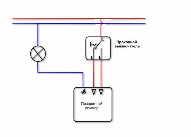 Схемы подключения диммера