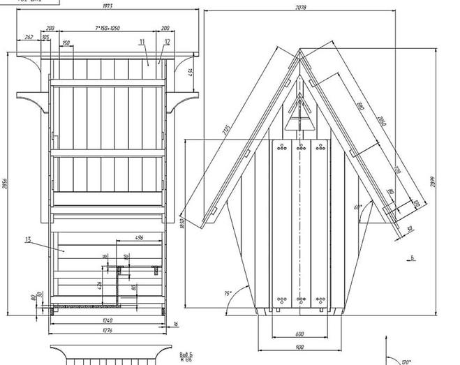 Туалет избушка на даче своими руками чертежи размеры 191