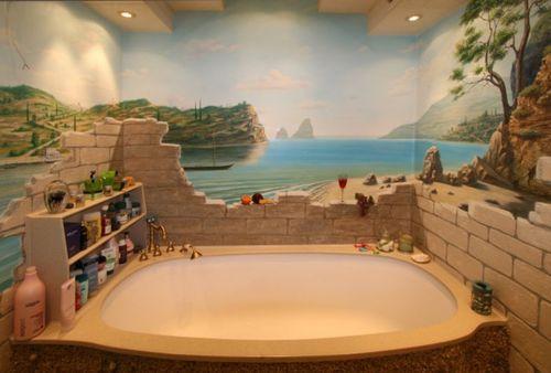 рисунок в ванной комнанте