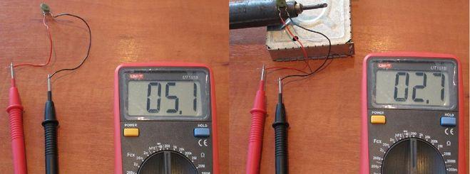 Проверка терморезистора.