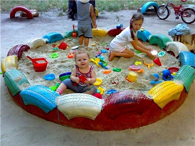 Что сделать для детской площадки своими руками