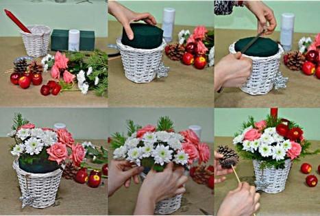 Как сделать букет с помощью флористической губки мастер-класс