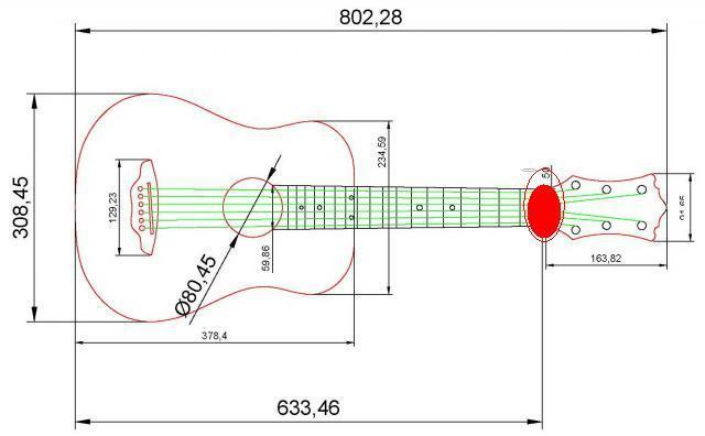 Акустическая гитара своими руками чертежи 64