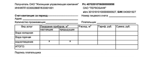 Бланки На Оплату Воды Москва