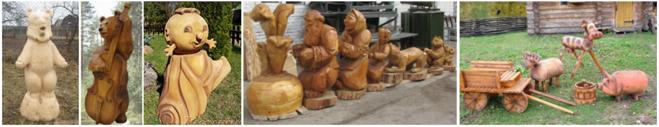 Садовые деревянные скульптуры
