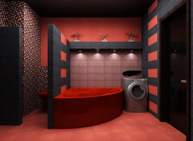 Интерьер красных комнат