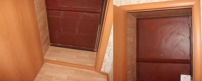 Дверной проем из ламината.