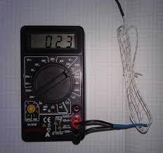 Как проверить мультиметром температуру
