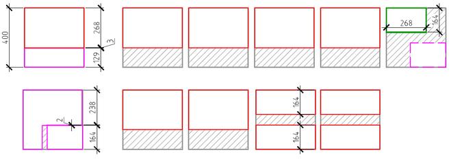 Раскрой плитки.Пример2.1