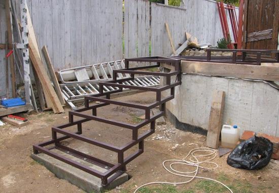 Лестница из металла своими руками из металла чертежи и