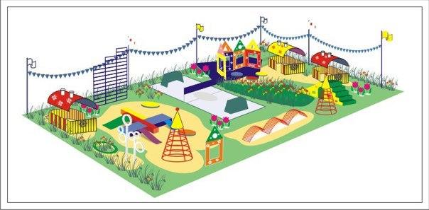 Детская площадка картинки чертежи