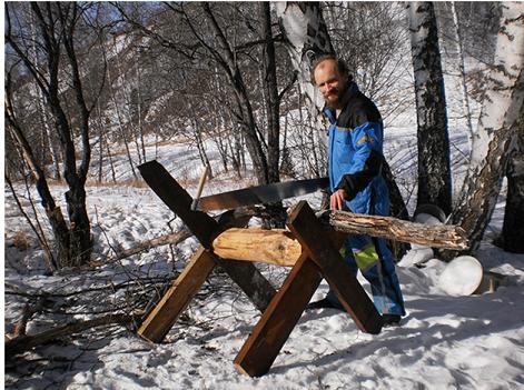 Козлы для распиловки дров как сделать 44